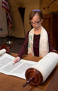Sophia Reading Torah
